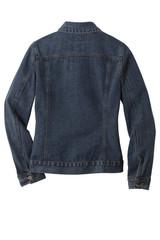 Port Authority Ladies Denim Jacket (00218-25); Rear; Decoration Type: