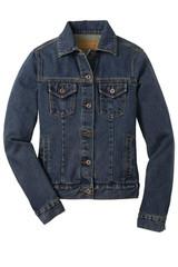 Port Authority Ladies Denim Jacket (00218-25); Front; Decoration Type: