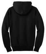 Sport-Tek Super Heavyweight Full-Zip Hooded Sweatshirt (01813-25); Rear; Decoration Type:
