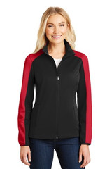 Port Authority Ladies Active Colorblock Soft Shell Jacket (01054-25); Primary; Decoration Type: