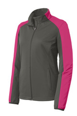 Port Authority Ladies Active Colorblock Soft Shell Jacket (01054-25); Front; Decoration Type: