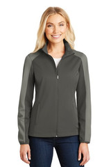 Port Authority Ladies Active Colorblock Soft Shell Jacket (01054-25); High; Decoration Type: