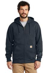 Carhartt Rain Defender Paxton Heavyweight Hooded Zip-Front Sweatshirt (00740-25); High; Decoration Type: