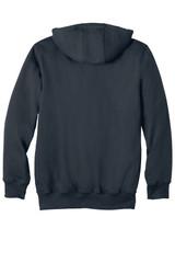 Carhartt Rain Defender Paxton Heavyweight Hooded Zip-Front Sweatshirt (00740-25); Rear; Decoration Type: