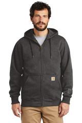 Carhartt Rain Defender Paxton Heavyweight Hooded Zip-Front Sweatshirt (00740-25); Primary; Decoration Type: