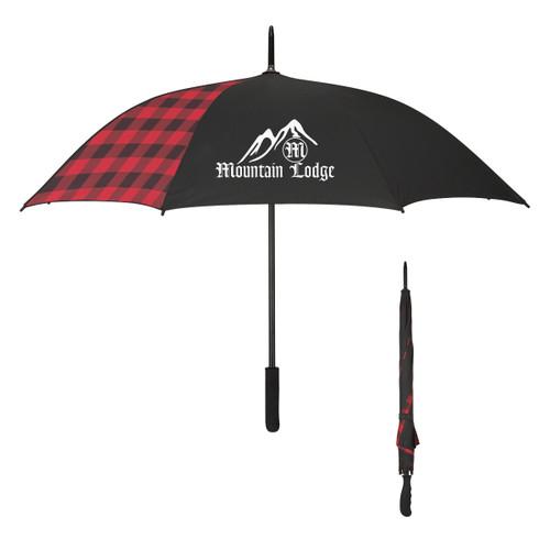 "46"" Arc Northwoods Umbrella (03236-00); Primary; Decoration Type: Silk-Screen"