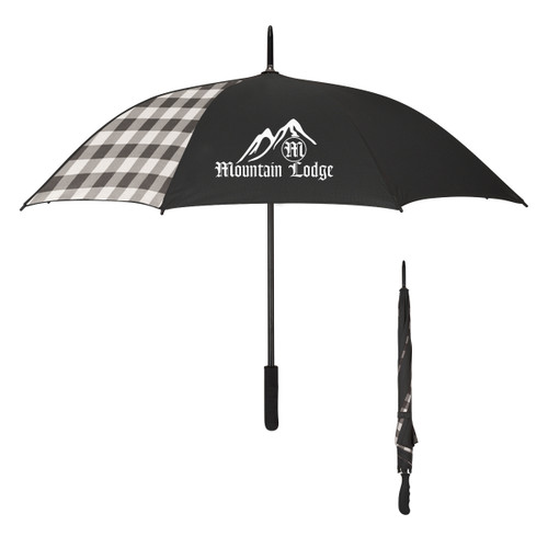 "46"" Arc Northwoods Umbrella (03236-00); Primary; Decoration Type: Silk-Screen"