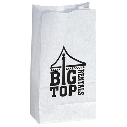 Custom Printed Popcorn Bag in White