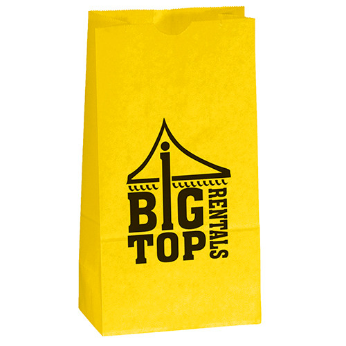Custom Paper Popcorn Bag in Yellow