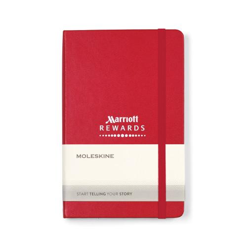 "Moleskine® Hard Cover Ruled Medium Notebook 7"" x 4.5"""