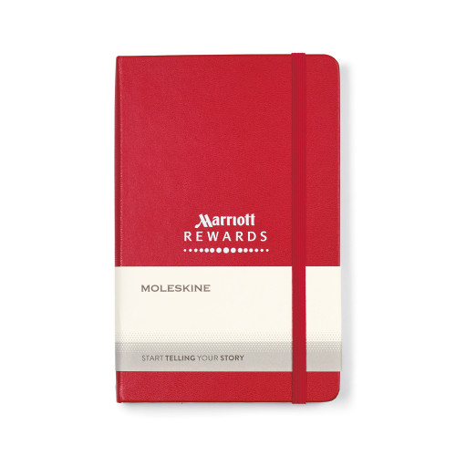 "Moleskine® Hard Cover Ruled Medium Notebook 7"" x 4.5"""