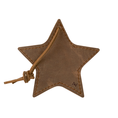 Stella Leather Star Ornament (00160-08); ; Decoration Type: