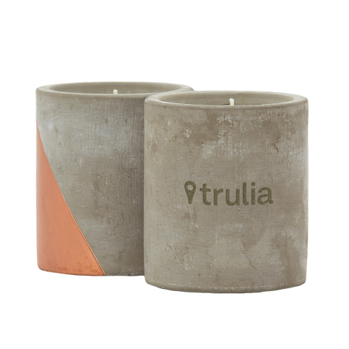 Serenity Concrete Candle (00336-08); ; Decoration Type: