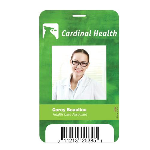 "Plastic Identification Badge - 3 5/8"" X 5 1/2"" (00084-08); ; Decoration Type:"