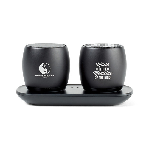 Paxton Bluetooth® Pairing Speakers (00909-10); Black; Decoration Type: PrimaryDecorated
