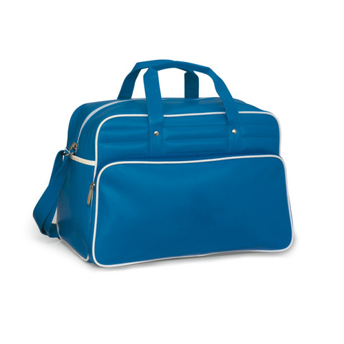 Vintage Weekender Bag (00677-10); Pacific Blue-White