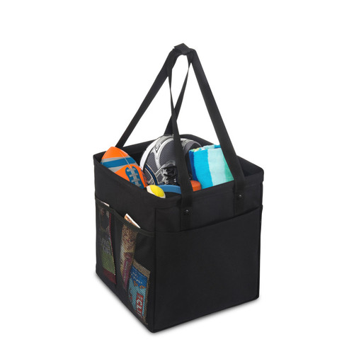 Colbie Collapsible Cotton Tote (00127-10); Black