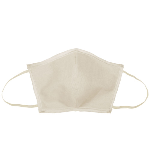 Flat Fold Canvas Face Mask W/ Elastic Loops (00001-26); Primary; Decoration Type: Silk-Screen