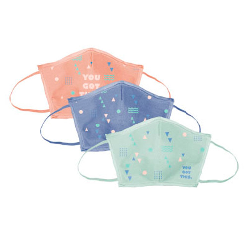 Flat Fold Canvas Face Mask W/ Elastic Loops (00002-26); Alternate; Decoration Type: Silk-Screen