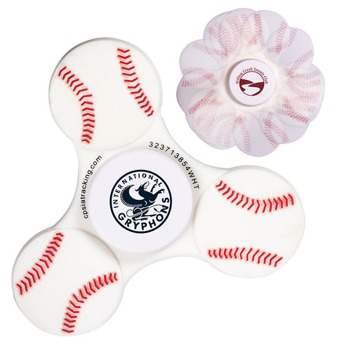 Gametime!® Spinner - Baseball (01865-19); Primary; Decoration Type: