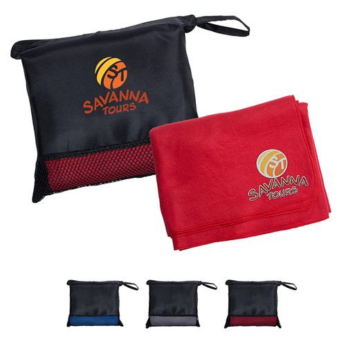 Travel Blanket In Pouch (01433-19); Primary; Decoration Type: