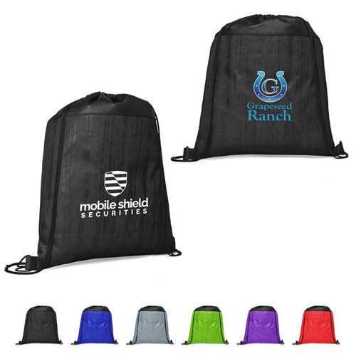 Cedar Non-Woven Drawstring Backpack (01104-19); Primary; Decoration Type: