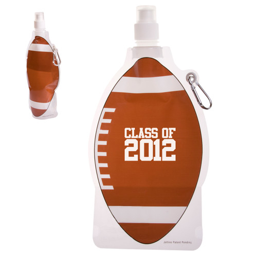Hydropouch!™ 22 Oz. Football Collapsible Water Bottle (01504-19); Primary; Decoration Type: