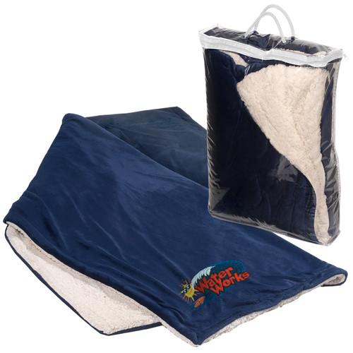 Jumbo Micro-Mink Sherpa Blanket (01477-19); Primary; Decoration Type:
