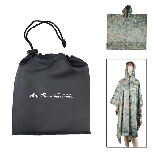 Digital Camo Poncho In Pouch (00931-19); Primary; Decoration Type: