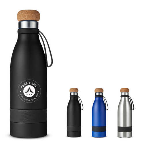 19 Oz. Double Wall Vacuum Bottle With Cork Lid (00274-19); Primary; Decoration Type: