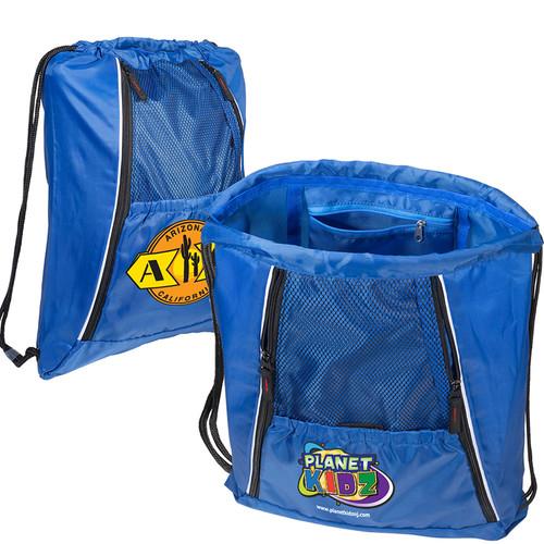 Multi-Pocket String-A-Sling Backpack (00879-19); Primary; Decoration Type: