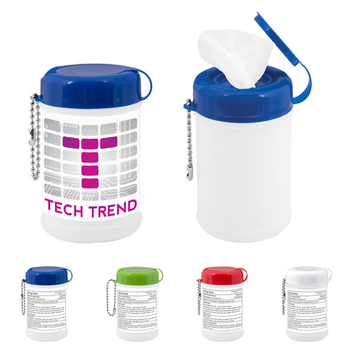 Canister Sanitizer Wipes (00178-19); Primary; Decoration Type: