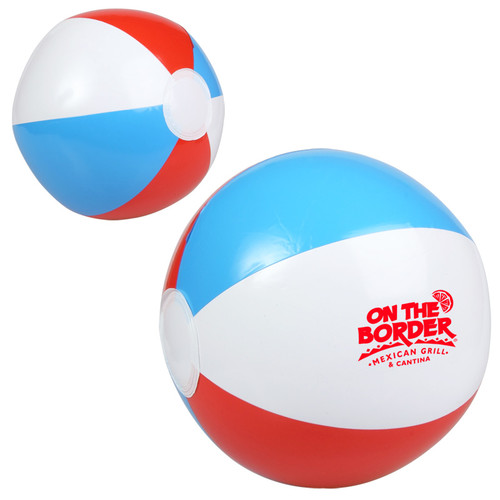 """10"""" Red, White And Blue Beach Ball (00578-19); Primary; Decoration Type:"""