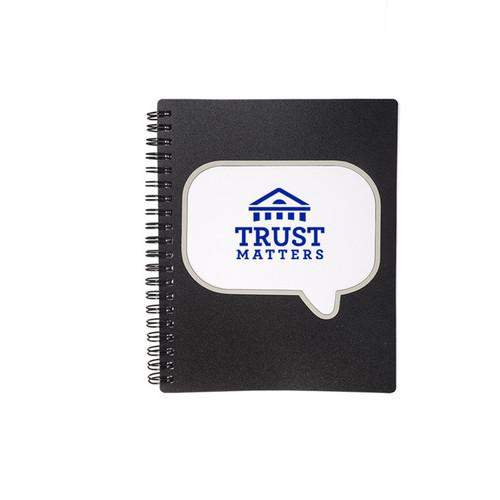 Logo-Burst™ Spiral Notebook (01203-19); Primary; Decoration Type: