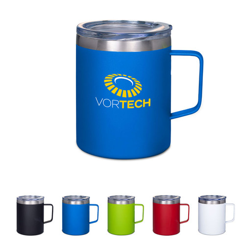 12 Oz. Vacuum Insulated Coffee Mug With Handle (01618-19); Primary; Decoration Type: