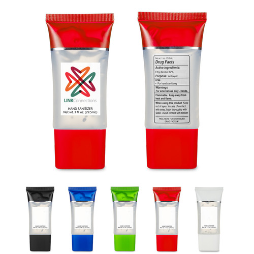1 Oz. Hand Sanitizer Squeeze Tube (01577-19); Primary; Decoration Type: