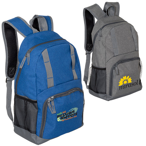 Simple Snow Canvas Backpack (01005-19); Primary; Decoration Type: