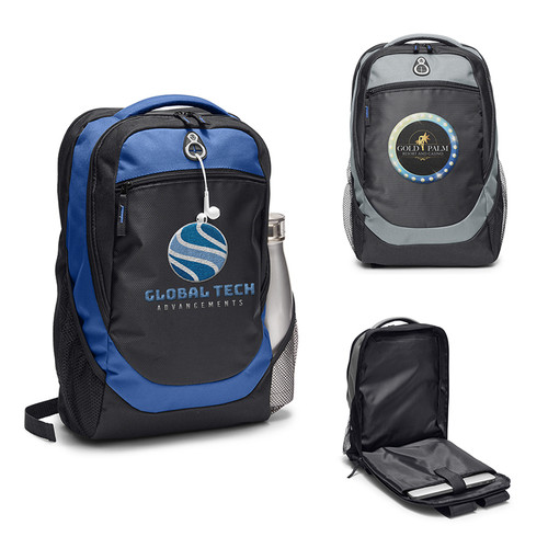 Hashtag Backpack With Back Access Laptop Compartment (01679-19); Primary; Decoration Type: