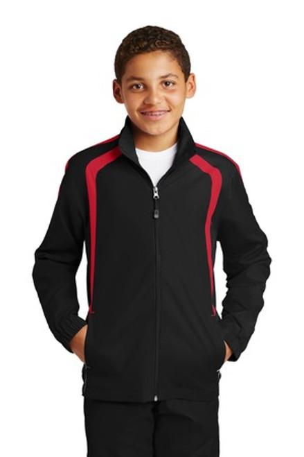 Sport-Tek Youth Colorblock Raglan Jacket (02115-25); Primary; Decoration Type: