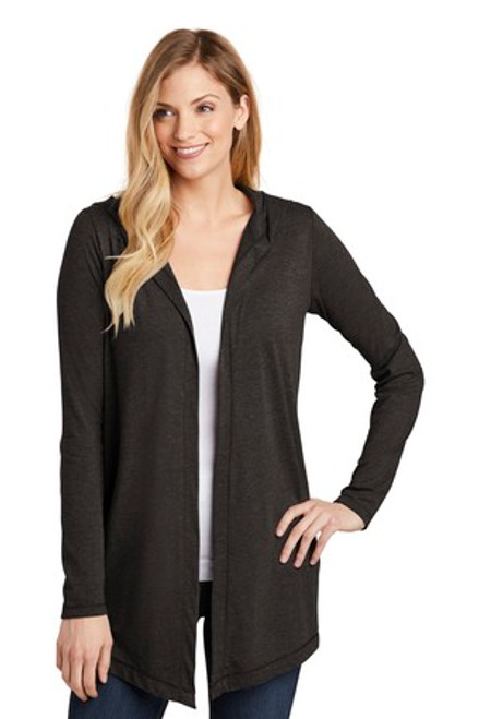 District Women'S Perfect Tri Hooded Cardigan (00119-25); Primary; Decoration Type: