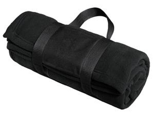 Port Authority Fleece Blanket With Carrying Strap (00013-25); Primary; Decoration Type: