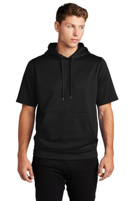 Sport-Tek Sport-Wick Fleece Short Sleeve Hooded Pullover (00669-25); Primary; Decoration Type: