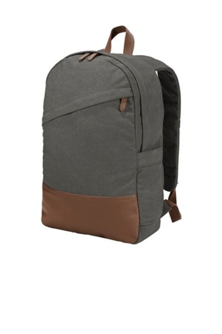 Port Authority Cotton Canvas Backpack (00742-25); Primary; Decoration Type: