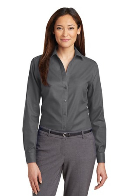 Discontinued Red House Ladies Non-Iron Diamond Dobby Shirt (01244-25); Primary; Decoration Type: