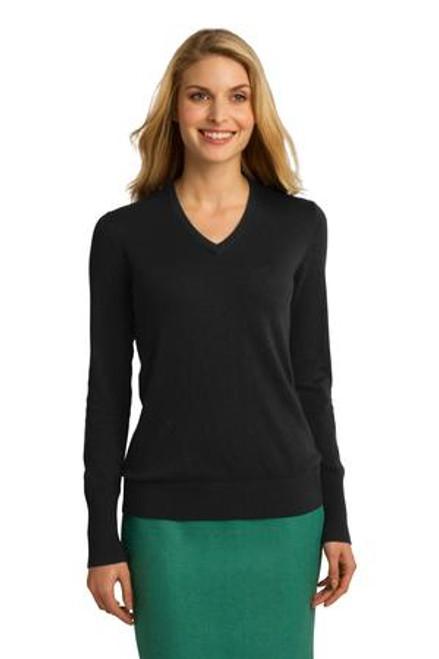 Port Authority Ladies V-Neck Sweater (00325-25); Primary; Decoration Type:
