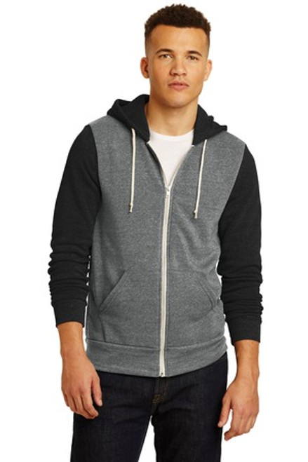 Alternative Colorblock Rocky Eco -Fleece Zip Hoodie (02243-25); Primary; Decoration Type: