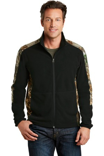 Port Authority Camouflage Microfleece Full-Zip Jacket (01496-25); Primary; Decoration Type: