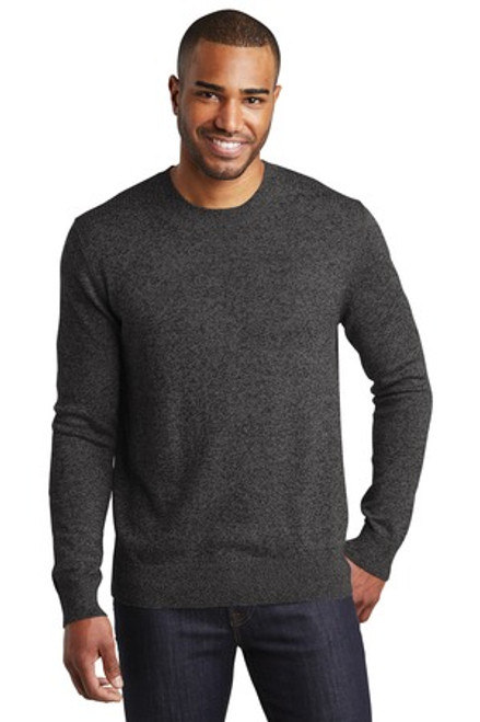 Port Authority Marled Crew Sweater (00484-25); Primary; Decoration Type: