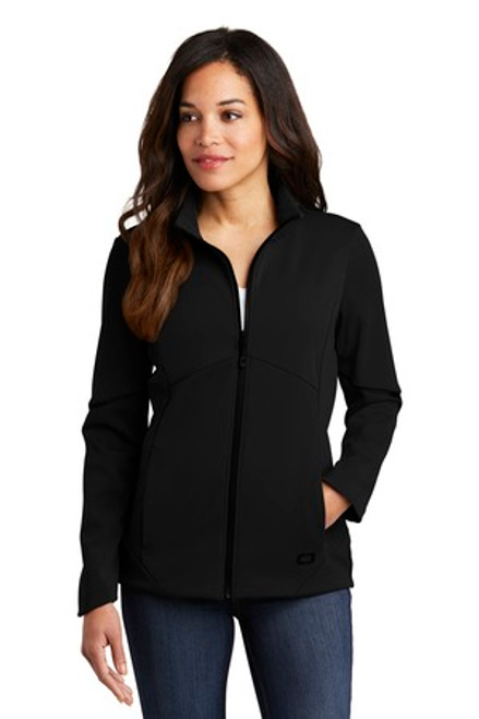 Ogio Ladies Exaction Soft Shell Jacket (02343-25); Primary; Decoration Type: