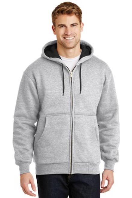 Cornerstone - Heavyweight Full-Zip Hooded Sweatshirt With Thermal Lining (00022-25); Primary; Decoration Type: